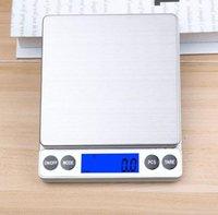 balanza electrónica digital dice 0.01g Peso bolsillo de la joyería mini cocina de la panadería con las escalas de visualización LCD 1kg / 2 kg / 3 kg / 0.1g 500g / 0.01g regalo
