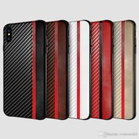 Für iphone xr xs max x 8 7 6 s plus handy case kohlefaser leder textur case für samsung galaxy s8 s9 s10 plus luxus