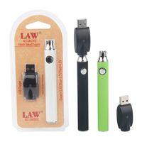 법률 예열 VV vape 펜 키트 USB 충전기 가변 전압 1100mAh 배터리 510 스레드 스타터 키트 블리스 터 팩