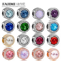 FAHMI 100% 925 Sterling Silver RADIANT HEARTS CHARM Beaded Multi-Color Selection Original Jewelry Manufacturer Wholesale
