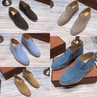 YENİ moda tasarımcısı Marka Açık Yürüyüşü Süet Sneaker Ayakkabı Kadınlar gündelik ayakkabı Erkekler Rasgele Yürüyüş Flats klasik ayak bileği çizme
