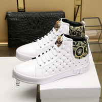 High- top men' s shoes high- quality casual shoes 38- 45 de...