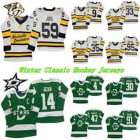 2020 Winter Classic Predators de Dallas Maillots Etoiles Nashville 91 Seguin 14 Jamie Benn 35 Pekka Rinne 59 maillots de hockey Roman Josi