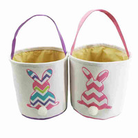 Easter Baskets Rabbit DIY Barrels Burlap Storage Bags Bunny ...