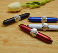 Relieve stress ABS LED fingertip gyro pen Ballpoint Ball pen...