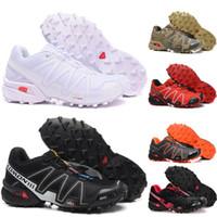 competitive price 0ad56 2ff64 Salomon Shoes Hommes Triple Blanc Noir Speed Cross 3 CS III Sports De Plein