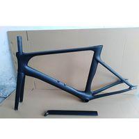 2019 NOVO quadro de estrada de fibra de carbono de engrenagem de bicicleta fixa quadro de estrada de carbono + garfo + selim + auricular carbono bicicleta de estrada