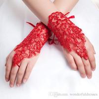 Gelin dantel gelinlik eldiven kırmızı gelinlik kısa tasarım beyaz gelin eldiven Kısa tasarım lucy artı boyutu ifade eder