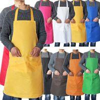 Tablier de cuisson long imperméable pour hommes Femmes Cuisine Tabliers Cuisine Robe Café Griller BBQ Chefs Cuisine Cuisine Restaurant avec poche