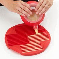 Qualité alimentaire Forme doigt silicone Biscuit chocolat Moules bricolage Lollipop Goutière Strip Cookie cuisson Plateau RRA3091