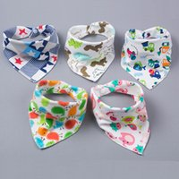 Pretty Baby baby feeding triangle bibs cotton infant bibs An...