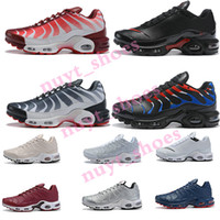 2019 TN Plus Mens designer sintonizado Airings Athletic Shoes Classic Outdoor tn Black White Sport Shock Sneakers requin Blue Spider EUR 40-46