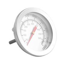 50-500 santigrat Paslanmaz Çelik Barbekü Barbekü Sigara içen Izgara Termometre Sıcaklık Ölçer Fırın Termometre