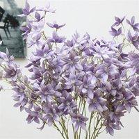 Freesia Hybrida Klatt Flor Artificial Início Sala decorativa Partido Centerpieces casamento Flor decorativa Flores falsificados