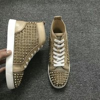 Casual Lover Shoes Studded Spikes Flats shoes for Mens Women...