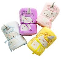 Unicorn Battaniye Araba Karikatür Rahat Ve Yumuşak Battaniye Çocuk Flanel Malzeme Yüksek Kaliteli Renk Şerit 17yfH1 Taşıması Uygun