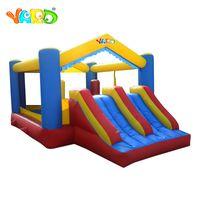 Jardim por atacado indoor saltar casa Bouncy castelo inflável ar saltando segurança com ventilador para atividade ao ar livre