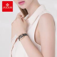 CWP 2021 Julius Watch Grey de alta calidad de acero inoxidable de alta calidad con calendario de malla de malla Moda Plaza de mujeres Dropshipping JA-1083
