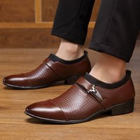 Plus size 13 14 pointed toe dress shoes men office loafers b...