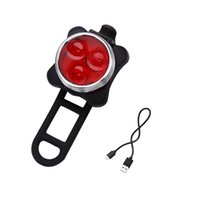Frente Cabeza LED bici de la bicicleta 3 con USB recargable de la cola del clip accesorios de bicicleta Luz de ciclo al aire libre de la lámpara 4 modos
