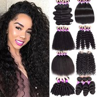 9a Монгольский дешевые девственные человеческие волосы плетение 3 пучка Глубокая волна Волна Волна вьющиеся волосы Extensions100% необработанные пакеты волос WEFT оптом