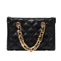 Square Diamond Lattice women' s chain Shoulder Messenger...