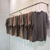 3 colori estivi Mens del progettista delle magliette High Street a colori Solid Season6 Washed maglietta casuale manica corta Moda