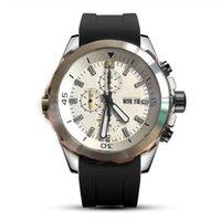 مصمم رجالي الرياضة ووتش اليابان حركة الكوارتز كرونوغراف أسود المعصم المطاط حزام الرجل الطيار الساعات العلامة التجارية الشهيرة ساعة اليد