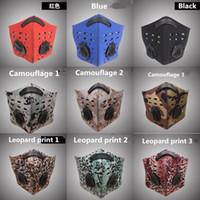 US STOCK Luftverschmutzung Gesichtsmaske Männer Sport atmungsaktiv Kohlefilter Fahrrad Staubschutz Smog Half Face Mask Neopren-Designs