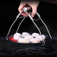 Plaque vaisselle pliable en acier inoxydable bol clip Tong Plaque chauffante Gripper Vaisselle Porte-Clamp tenailles outil de cuisine JK2003