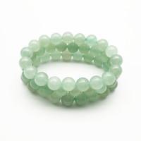 10mm Green Aventuryn Bransoletka, Bransoletka z kamieniami szlachetnymi, okrągłe koraliki Aventurine, elastyczna bransoletka, bransoletka powodzenia