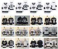La Los Angeles Reis Jersey 99 Wayne Gretzky 11 Anze Kopitar 32 Jonathan Quick 8 Drew Doughty 2020 Património Costurado Hóquei Jersey