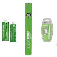 SmartCart Battery Green Smart Carts 380mAh Preheat VV Caricatore USB inferiore di tensione variabile Caricabatterie Vape Battery per 510 cartucce