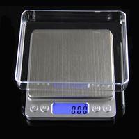 Gioielli portatile digitale di precisione Bilancia tascabile Bilance Mini LCD peso di equilibrio elettronico Scale 500g 0.01g 1000g 200g 3000g DHL