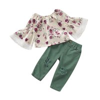 Kids Baby Girls Clothes T- shirt Tops + Pants 2 pcs Set Outfit...