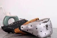 2019 perçin yeni M baskı cepler, erkek ve kadın büyük kapasiteli eğimli cepler Bel Çantaları