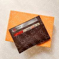 Porte Cartes Doppia M62170 High Quality Moda Carta di credito Portafoglio Portafoglio Cartoncino Bussiness Caso Custodia Iconic Eclipse Canvas impermeabile