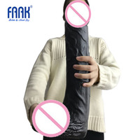 FAAK 42 * 8 cm súper enorme consolador con ventosa para el punto G femenino masturbación anal, pene grande fuertes juguetes sexuales Dong, Cock para las mujeres T200520