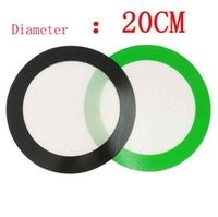 Silicone wax pads dry herb mats 20cm round smoking accessories baking mat dabber sheets jars dab tool Container hookahs