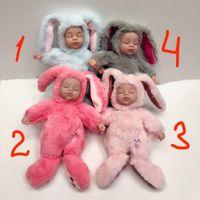 아기 잠자는 토끼 25cm 소녀와 소년을위한 새해 생일 롤 플러시 인형 도매