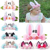 Baby Bunny Bunny Orelhas Headband Elk Gato Flower For Festival Xmas Christmas Moda Coelho Ears Bow Acessórios Bonitos