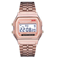 2019 F 91 W LED Relógio Eletrônico Mens Sports Relógios de Aço Inoxidável Relógios Digitais Estudantes Data Relógio Digital Relógios de Pulso Inteligente