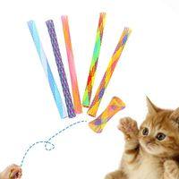 13cm Telescópico Cat Stick Pey Cat Bouncing Toy Puppy Gatito Jugando Juguetes Bouncy Cat Teaser Toys Accesorios para mascotas