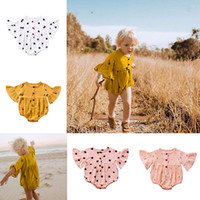 4 Colors Baby Romper Summer Jumpsuit Flare Sleeves Cherry Ca...