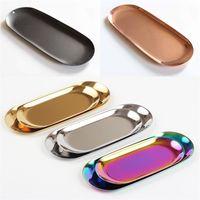 الفولاذ المقاوم للصدأ البيضوي علبة مجوهرات شمعة أداة تخزين الصواني بالكهرباء البليت مقابل التعبئة مع مختلف الألوان 13mw8 J1