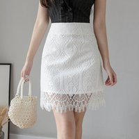 Summer Skirts Womens 2020 Korean Style Vintage High Waist Ho...