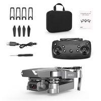 E68 4K Caméra HD WIFI FPV Mini Jouet de drone débutant, Simulateurs, Vol de piste, Vitesse réglable, Hoison d'altitude, Gestes Photo Quadcoptère, pour Kid Cadeau, 3-3