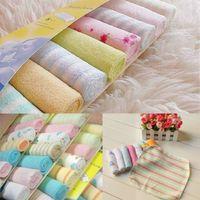 8 unids / pack suave bebé toalla de baño de algodón infantil recién nacido toallita de alimentación toallita niño cara paño pañuelo de los niños