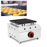 Gaz Kalp Şeklinde Hollandalı Mini Gözleme Makinesi 25 delik Bebek Poffertjes Maker Izgara Tava Küçük Küçük Çıtır Krep Demir Plaka
