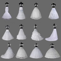12 نمط الأبيض قماش قطني / التنورة حورية البحر فساتين زفاف / الزلات / تحتية خط / الأطواق